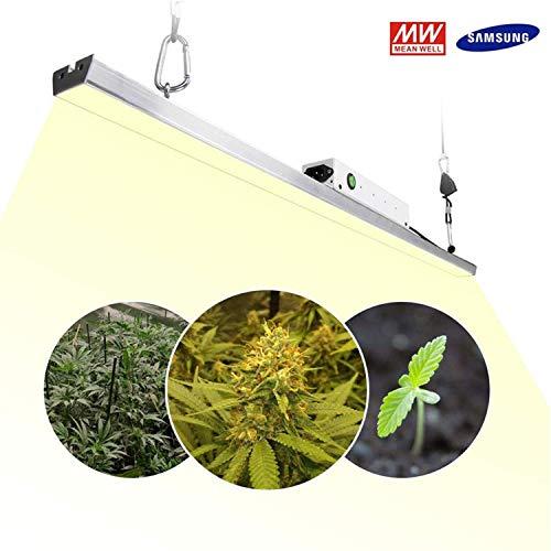 LED Pflanzenlampe 300w 3.2Ft / 1m Pflanzenlicht Sonnenähnliches Pflanzenleuchte Vollspektrum Wachstumslampe für Zimmerpflanzen Samen Blumen mit 140 3500K Samsung Quantum LED Board