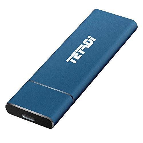 TEYADI SSD externa de 256 GB, unidad de memoria externa, USB 3.1...