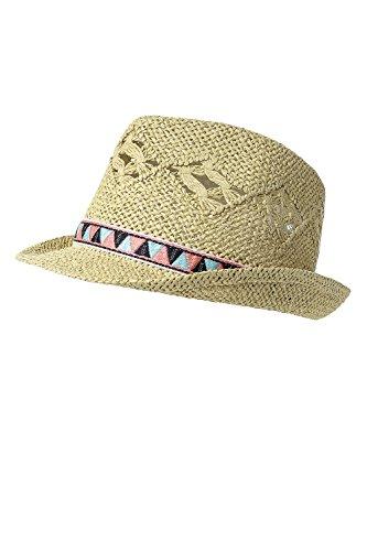 ONLY Damen Strohhut Panama Hut Sonnenhut Sonnenschutz (One Size, Nomad)