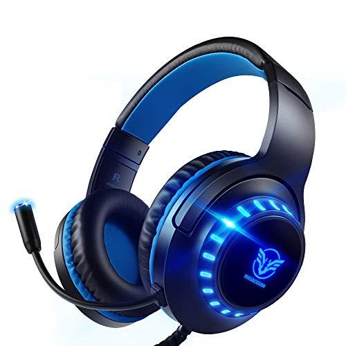 Pacrate Auriculares Gaming PS4, Auriculares con Micrófono PC,...