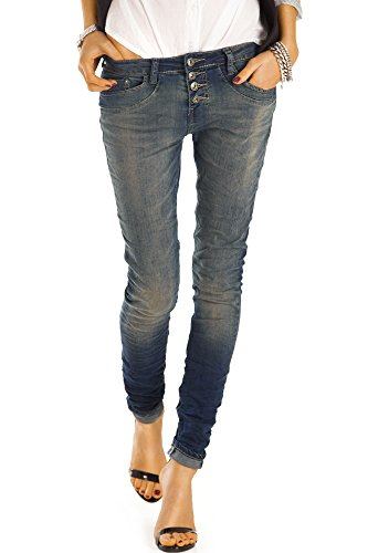 bestyledberlin Damen Jeans, Boyfriend Jeans, Slim Fit Hosen, Stretch...