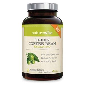 NatureWise Green Coffee Bean 800mg Max Potency Extract 50% Chlorogenic Acids | Raw Green Coffee Antioxidant Supplement & Metabolism Booster for Weight Loss | Non-GMO, Vegan, & Gluten-Free [1 Month] 4 - My Weight Loss Today