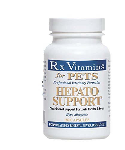 Rx Vitamins for Pets Hepato Support for Dogs & Cats - Veterinary Nutritional Formula for Liver Support - Hypoallergenic - 180 Capsules