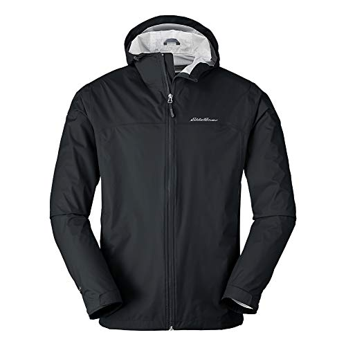 Eddie Bauer Men's Cloud Cap Rain Jacket, Black Regular M