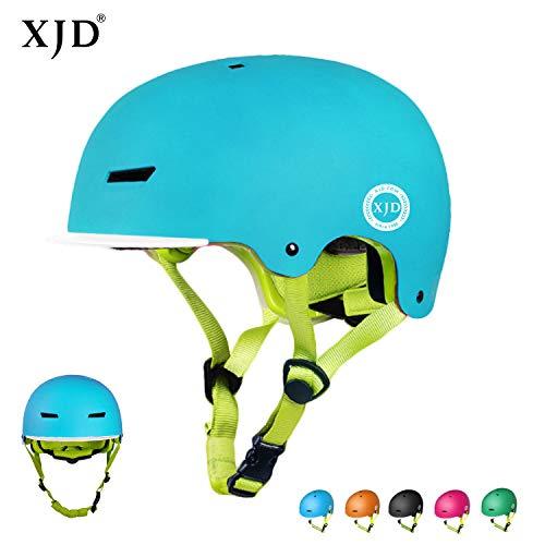 XJD Kinder Jugend Fahrradhelm Beschützer 2.0 CE-Zertifizierung für Sport Skateboard Motorrad 3-13 Alt (Blau S)