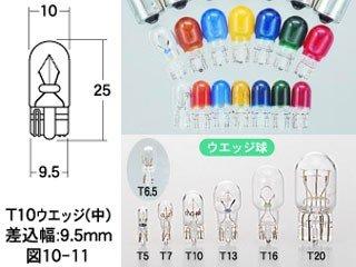 M&Hマツシマ 電球 12V 3.4W ホワイト T10 ウェッジ 2個入 AWB12WH