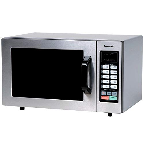 """Panasonic Countertop Commercial Microwave Oven with 10 Programmable Memory, Touch Screen Control and Bottom Energy Feed, 1000W, 0.8 Cu. Ft. (Stainless Steel), 5"""""""