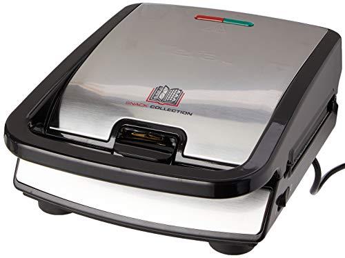 Tefal SW852D Snack Collection   Sandwich- und Waffelmaker   Kombigerät   Antihaftbeschichte Platten   Spülmaschinengeeignet   mit vielfältigen Funktionen erweiterbar   700W
