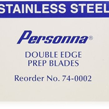 Personna Prep Double Edge Razor Blades - Model 74-0002 - Box of 100