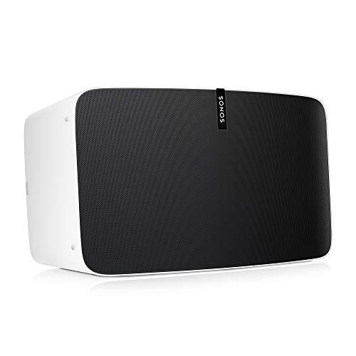 Sonos Play:5 WLAN Speaker, weiß – Kraftvoller WLAN Lautsprecher mit bestem, kristallklarem Stereo Sound – AirPlay kompatibler Multiroom Lautsprecher