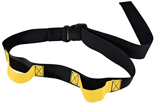 Secure SGB2H-60B Transfer and Walking Gait Belt with Caregiver Hand Grips - Patient Ambulation Assist (60'L x 2'W, Yellow Handle (2 Handle w/EZ Buckle))
