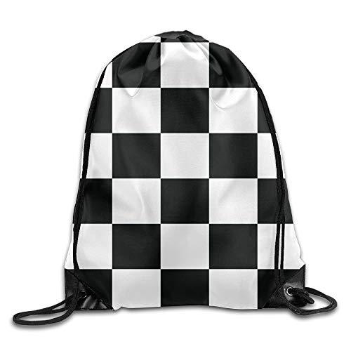 Mabell Waving Checkered Flag Car Racing Unisex Drawstring Backpack
