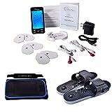 TechCare Plus 24 Modes Tens Unit Massager Rechargeable Unit Electric Complete Set + Massage Belt + Reflexology Shoes Back Neck Pain