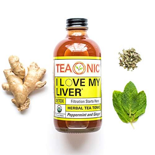 TEAONIC I LOVE MY LIVER - Herbal Tea Tonic - Detox Tea - Ginger Root - Hibiscus Tea - Dandelion Root Tea - Decaf tea - Rooibos Tea Organic - Milk Thistle Tea - 8 fl oz. Each - 12 Pack 2 - My Weight Loss Today