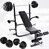 Thinktoo Weight Bench Barbell Lifting Press Gym Equipment Exercise Adjustable Incline for Aerobic Exercise Like Speed Training, Endurance Training and Fitness Gym