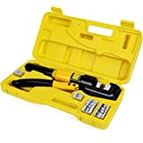 10 Tons Hydraulic Wire Battery Cable Lug Terminal Crimper Crimping Tool With 9 Pairs of Dies