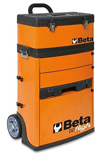 Beta C41H High Trolley Porta Attrezzi Professionale con Ruote da 160 mm, 2 Moduli Estraibili: 1...
