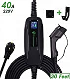 PRIMECOM 32A & 40A Electric Vehicle (EV) Charger, Level 2, 240V, 32A/40A, NEMA 14-50 Electric Car Charger for All EVs, 30, 40, and 50 Feet Lengths (30, 40Amp) for Tesla