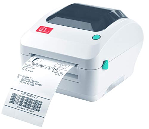 Arkscan 2054A Shipping Label Printer for Windows Mac Chromebook Linux, Supports Amazon Ebay Paypal Etsy Shopify ShipStation Stamps.com UPS USPS FedEx DHL, Roll & Fanfold 4x6 Direct Thermal Label