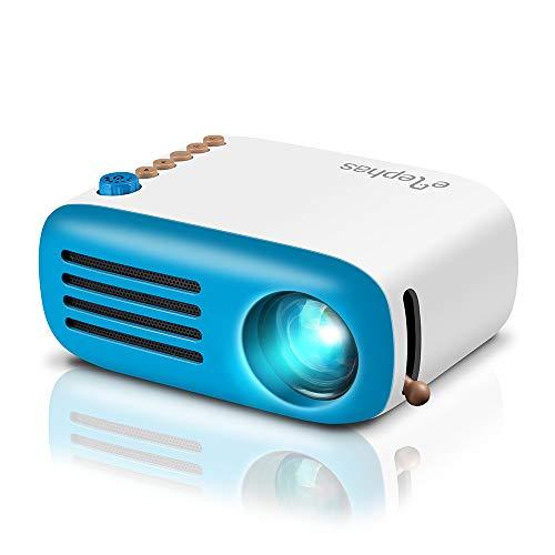 Elephas Mini Proiettore, Pico Proiettore LED, Videoproiettore Mini Con HDMI USB, Supporta Smartphone PC Laptop per Videogiochi, Film