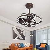 Ventilateur De Plafond avec Lampe, 36W Moderne Fan LED Plafonnier...