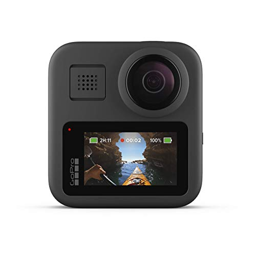 GoPro MAX Waterproof 360 + Traditional Camera with Touch Screen Spherical 5.6K30 HD Video 16.6MP 360 Photos 1080p Live Streaming Stabilization (Renewed) (Electronics)