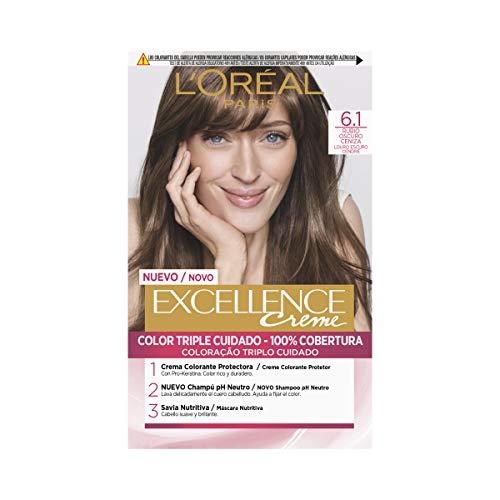 L'Oréal Paris Excellence Creme Tinte Tono 6.1 Rubio Oscuro