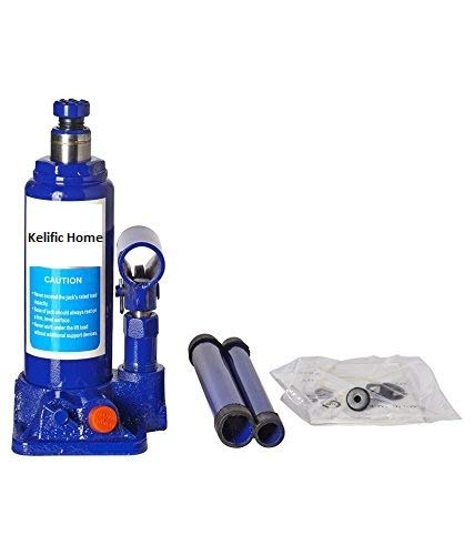 Kelific Home || Super Premium Heavy Car Hydraulic Jack for All Cars (Universal) (Blue & Red) || Make in India || N231