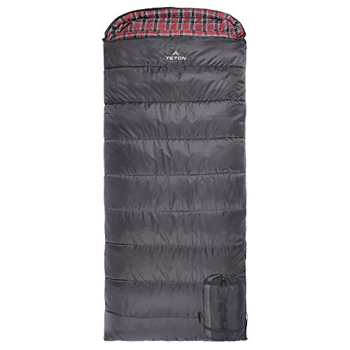 TETON Sports Celsius XXL -18C/0F Sleeping Bag; Great for Cold Weather Camping; Lightweight Sleeping Bag; Hiking, Camping; Grey, Left Zip