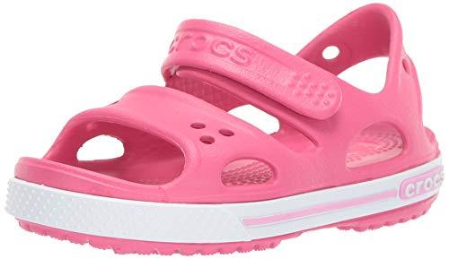 Crocs Crocband II Sandal PS K, Sandalias Unisex Niños, Rosa/Blanco (Paradise Pink/Carnation), 27/28 EU