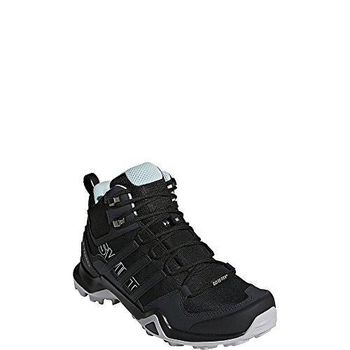 adidas outdoor Womens Terrex Swift R2 Mid GTX Hiking Boot (9, Black/Black/Ash Green)