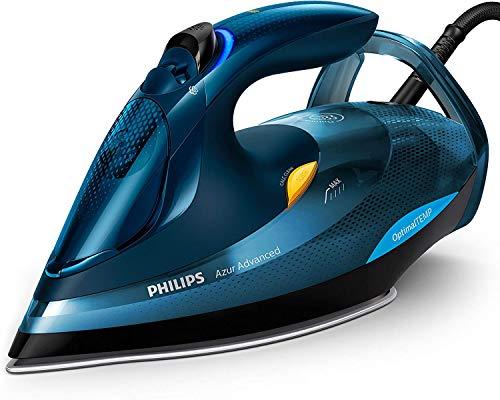 Philips gc4937/20Azur Advanced ferro da stiro a vapore, Spegnimento Automatico, 0.33L, 3000W, Blu