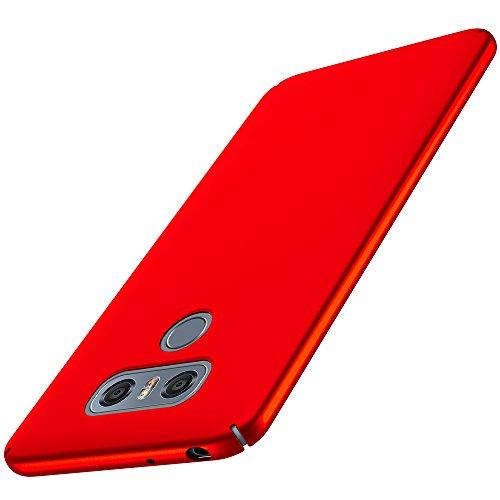 anccer Cover LG G6 [Serie Colorato] di Gomma Rigida Protezione da Cadute e Urti LG G6 (Rosso Liscio)