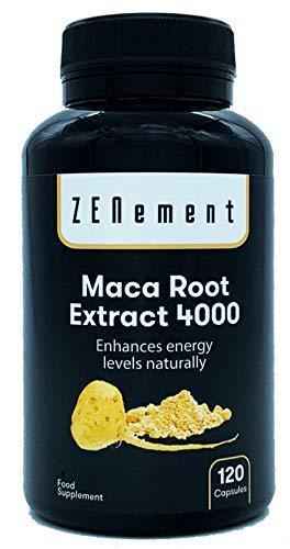 Maca Andina, altamente concentrada 4000mg, 120 cápsulas, mejora los niveles de energía de manera natural | 100% Natural