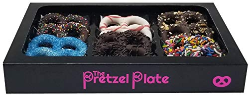 Gourmet Chocolate Gift Box- Assorted Chocolate Covered Pretzels- Simple Thoughtful Gift for Family Friends or Corporate -Birthday Holiday Thanksgiving Hanukah Christmas Treat- Vegan and Dairy Free