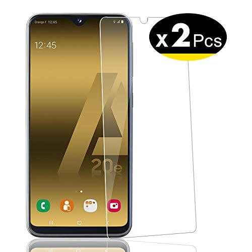 NEW'C 2 Pezzi, Vetro Temperato per Samsung Galaxy A20e, Pellicola Prottetiva Anti Graffio, Anti-Impronte, Senza Bolle, Durezza 9H, 0,33mm Ultra Trasparente, Ultra Resistente