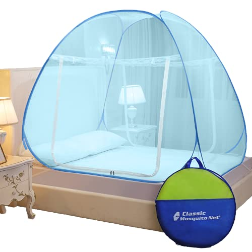 Classic Mosquito Net Foldable, Double Bed King Size, Strong 30GSM, PVC Coated Steel (L200cm X W200cm...