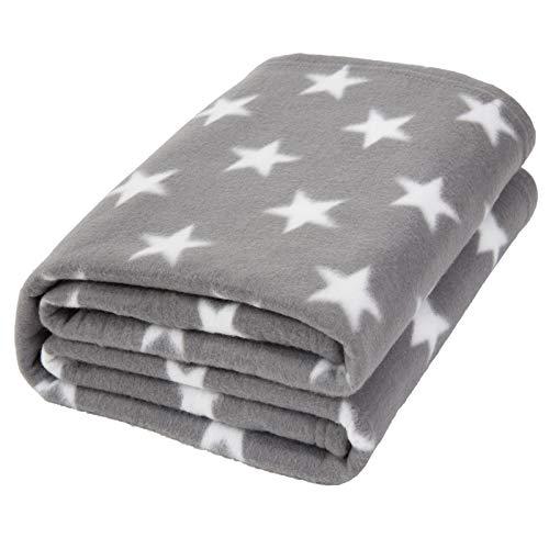 Dreamscene, coperta in pile di flanella con stelle, calda e morbida, per divano per bambini, 125 x...