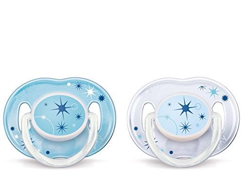 Philips AVENT BPA Free Nighttime Infant Pacifier, 0-6 Months, 2-Count