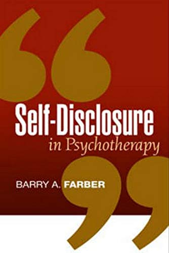 Self-Disclosure in Psychotherapy