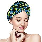 Blueberry Fruit Art Serviette de séchage de Cheveux Turban Microfibre Serviette de...