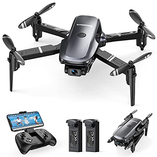 Sansisco Mini Drone con Telecamera 1080P, D15 Drone Pieghevole FPV, RC Droni Quadricottero con 20 Minuti di Volo, Droni con Modalit Hovering, Modalit Headless e 3D Flip, Drone per Principianti