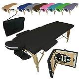 Vivezen ® Table de massage pliante 2 zones en bois avec panneau Reiki +...