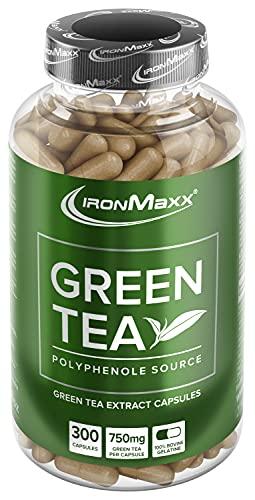 IronMaxx Green Tea/Grüntee-Extrakt in Kapseln / 1 x 300 Kapseln (266,3g)