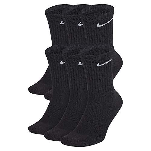 Nike Everyday Cushion Crew, Calzini Uomo, Black/(White), L