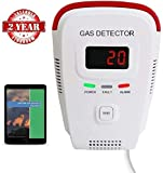 Propane / Natural Gas Detector, Home Gas Alarm; Leak Tester, Sensor; Monitor Combustible Gas Level: Methane, Butane, LPG, LNG; Voice / Light Warning & LED Display, Prevent Fire Explosions; eBook