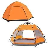 LAKWAR Tente de camping pop-up instantanée pour 2-3 personnes, légère,...