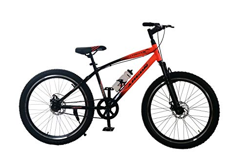 Rafals 26T MTB/Bicycle/Cycle Single Speed Road Cycle (Fluorescent Orange-Black)
