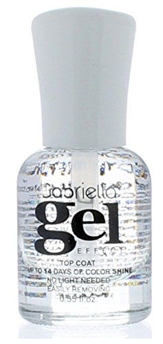 Gel Nail Polish Long Lastin, Quick Drying, Lasts up to 14 Days, No UV or LED Lamp Needed to Cure by Gabriella (Clear)