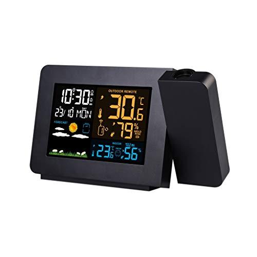 Casa e cucina Stazioni Meteo Orologi di monitoraggio meteorologico Proiezione Sveglie Sveglie digitali Umidità Temperatura Stazione meteo Display LCD Previsioni meteorologiche Giardino e Giardinaggio
